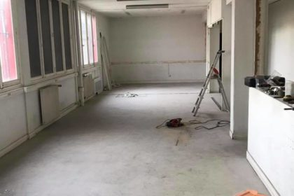 le club house en cours de finition…